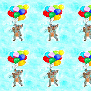 French Bulldog with Balloons Large Scale