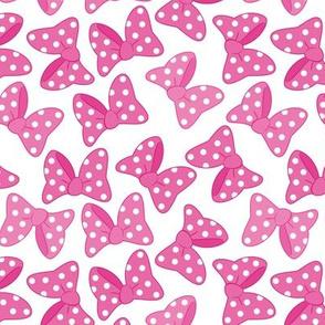 Polka Dot Bows Pink Large