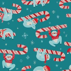 Candy Cane Christmas Sloth