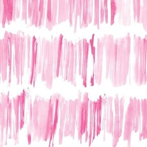 Watercolor blush pink brush stroke stripes • painted abstract