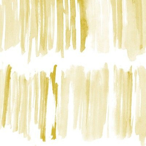 Mustard watercolor brush stroke paint stripes