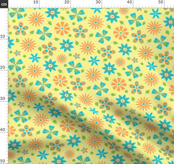 Cute Modern Floral Design Perfect For Spoonflower