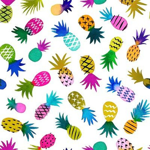 Pineapple Fun Whimsical / White / Small Scale