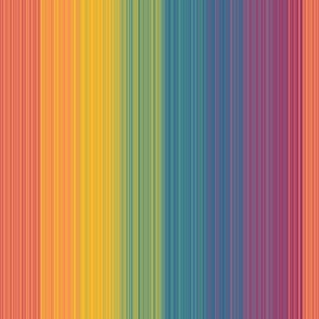 Rainbow Paint Brush Bar Code - Y Stripes - Large Scale