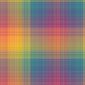 Fine Rainbow Plaid - Large Scale