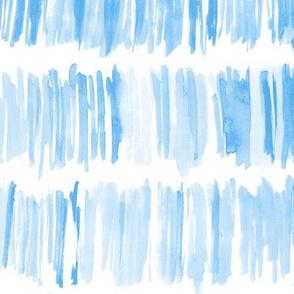 Watercolor aqua brush stroke paint stripes