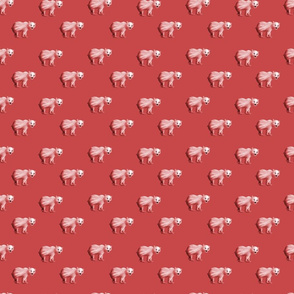 Red Bears on Red Background