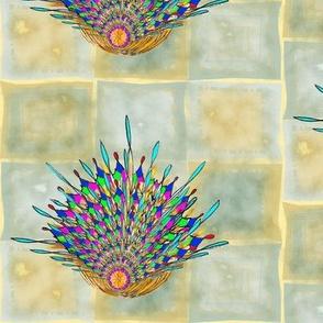 Kaleidoscope Basket Watercolor Variation