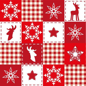 reindeer christmas patchwork