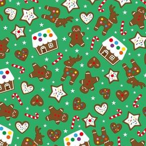 gingerbread fun green