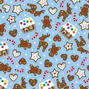 gingerbread fun blue