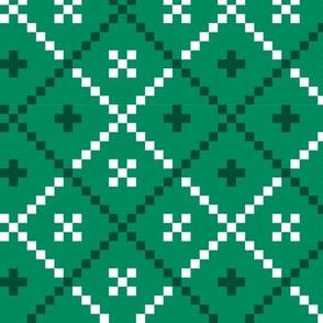 Light Green Christmas pattern
