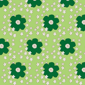 blooming retro green