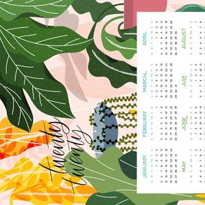 2020 Calendar Floral Minky Fat Quarter