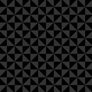 Geometric Pattern: Square Triangle: Monochrome Black