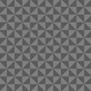 Geometric Pattern: Square Triangle: Monochrome Grey Thunder