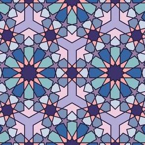Geometric Pattern: Arabic Tiles: Iris
