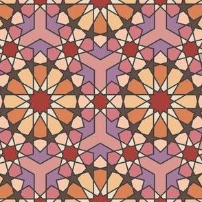 Geometric Pattern: Arabic Tiles: Autumn