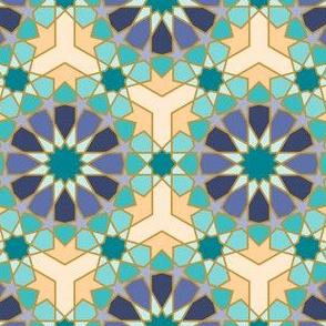 Geometric Pattern: Arabic Tiles: Dream