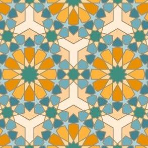 Geometric Pattern: Arabic Tiles: Lily