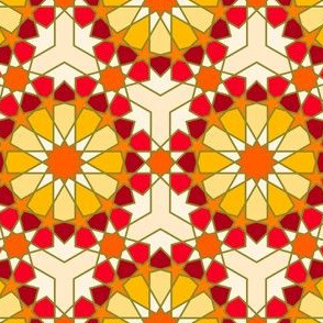 Geometric Pattern: Arabic Tiles: Sunset