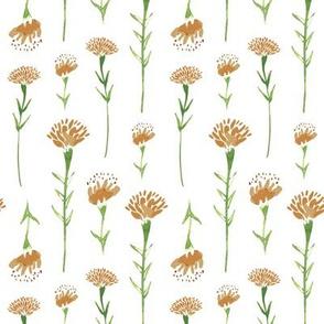 Marigolds in White Pattern