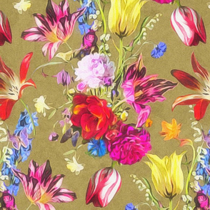 tulip chintz gold