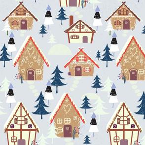 Retro Alpen Gingerbread House