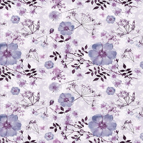 Antique Wild Rose lilac  duvet or wall