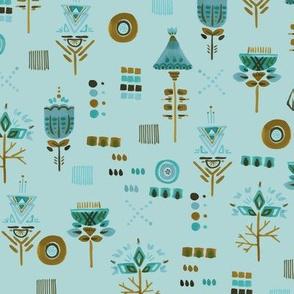 Winter Blossoms - Delicate Mess Blue