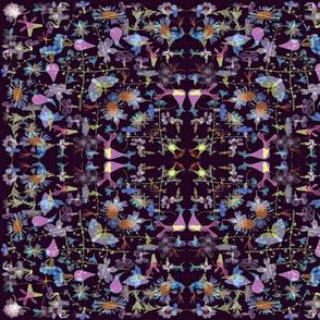 kaleidescope purple garden
