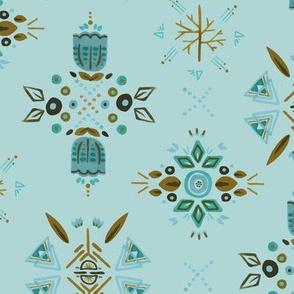 Winter Blossoms - Kaleidoscope Blue