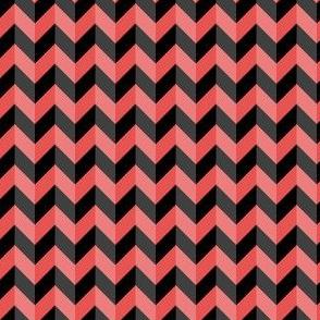 Geometric Pattern: Chevron: Dark/Red
