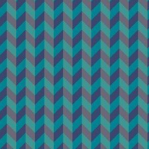Geometric Pattern: Chevron: Ocean