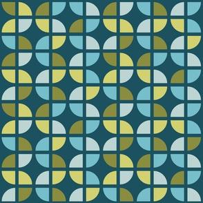 Geometric Pattern: Quarter Circle: Pond