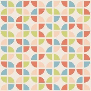 Geometric Pattern: Quarter Circle: Spring