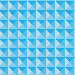 Geometric Pattern: Pyramid: Light/Blue