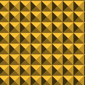 Geometric Pattern: Pyramid: Dark/Yellow