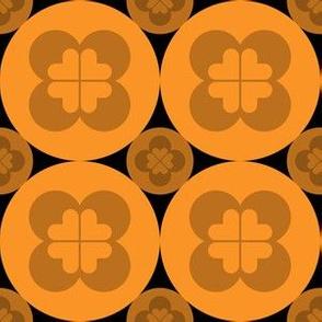 Geometric Pattern: Circle Flower: Dark Orange