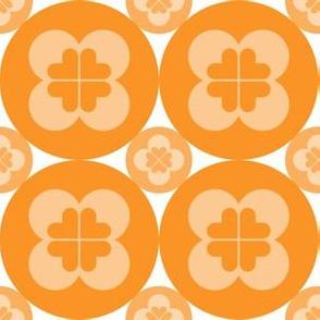 Geometric Pattern: Circle Flower: Light Orange