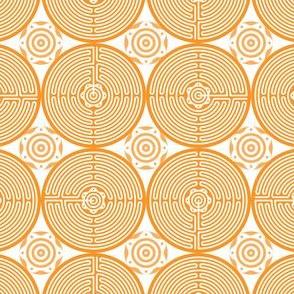 Geometric Pattern: Labyrinth: Light Orange