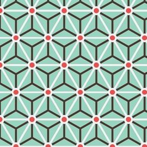 Geometric Pattern: Star Circle: Mint