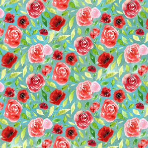 Rose and Poppies_10