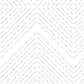 Stitched Diamonds-White + Gray
