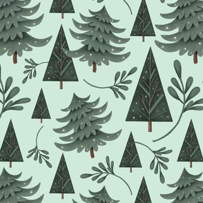 winter woodland pattern 3 seamless swatch