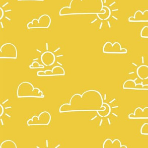 Clouds Sun Yellow