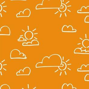 Clouds Sun Orange