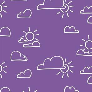 Clouds Sun Purple