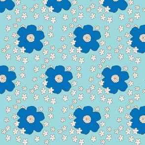 blooming retro blue