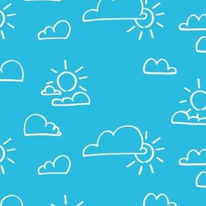 Clouds Sun Bright Blue
